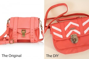 diy - painted leather bag