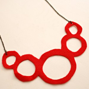 necklace felt