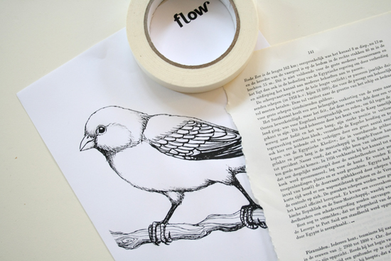 diy- how to print on bookpages