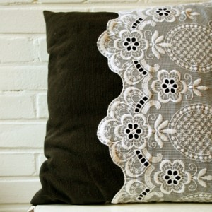 diy lace pillow