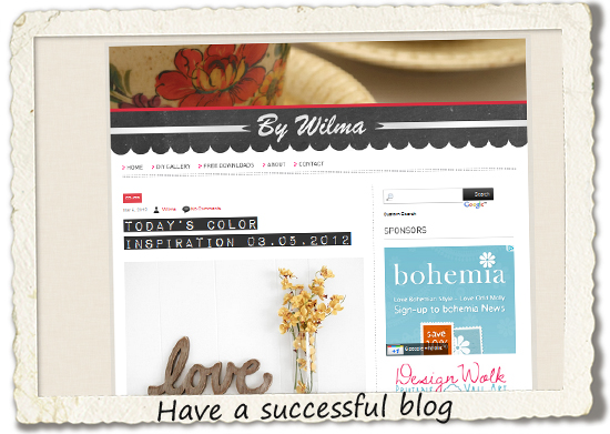 bucket list: have a succesful blog