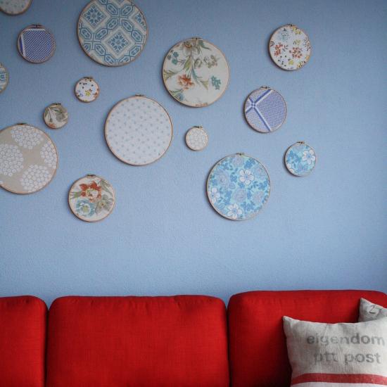Interior design inspiration – blue and red home