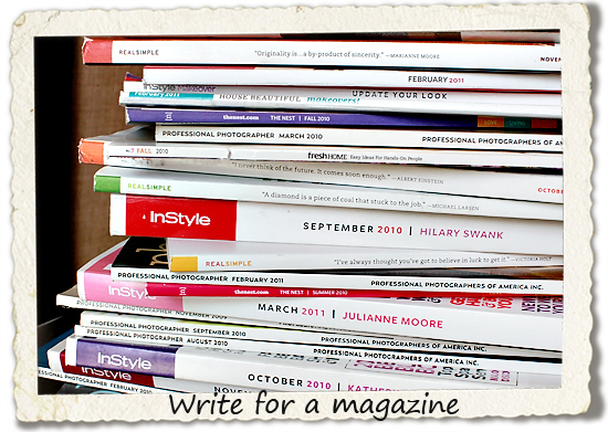 bucket list: write for a magazine