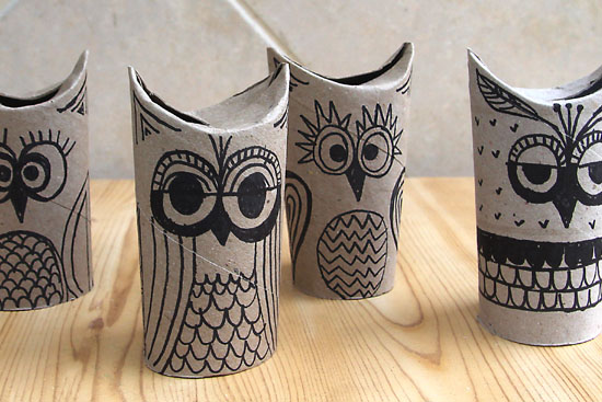 Like made with toilet paper tubes diy pinterest for Toilet paper tube owls