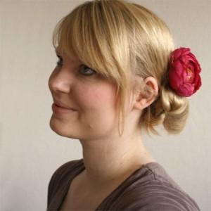 hair tutorial side bun wedding hair flower small