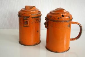orange vintage collecting-box thrift store find