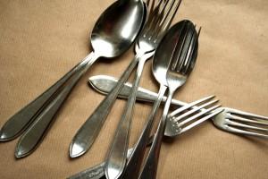 thrift store find cutlery