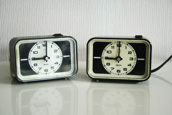 vinage alarm clocks thrift store finds