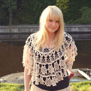 crocheted tablecloth becomes poncho diy small