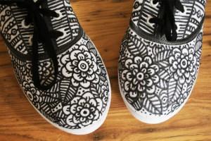 diy doodle shoes after