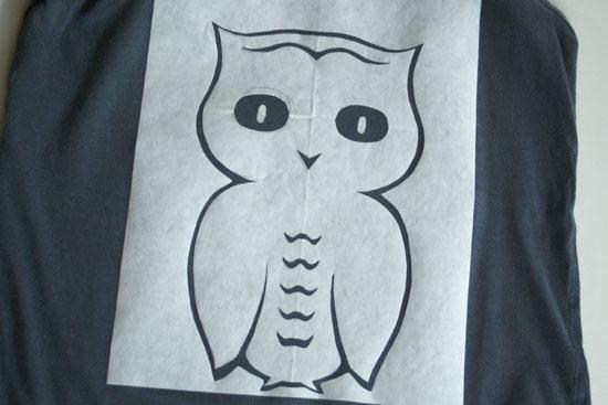 easy owl stencil diy 2