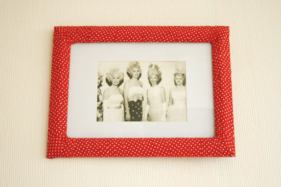 DIY - Fabric covered picture frame