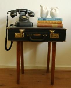 briefcase table diy