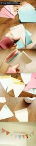 DIY - Wallpaper sample bunting