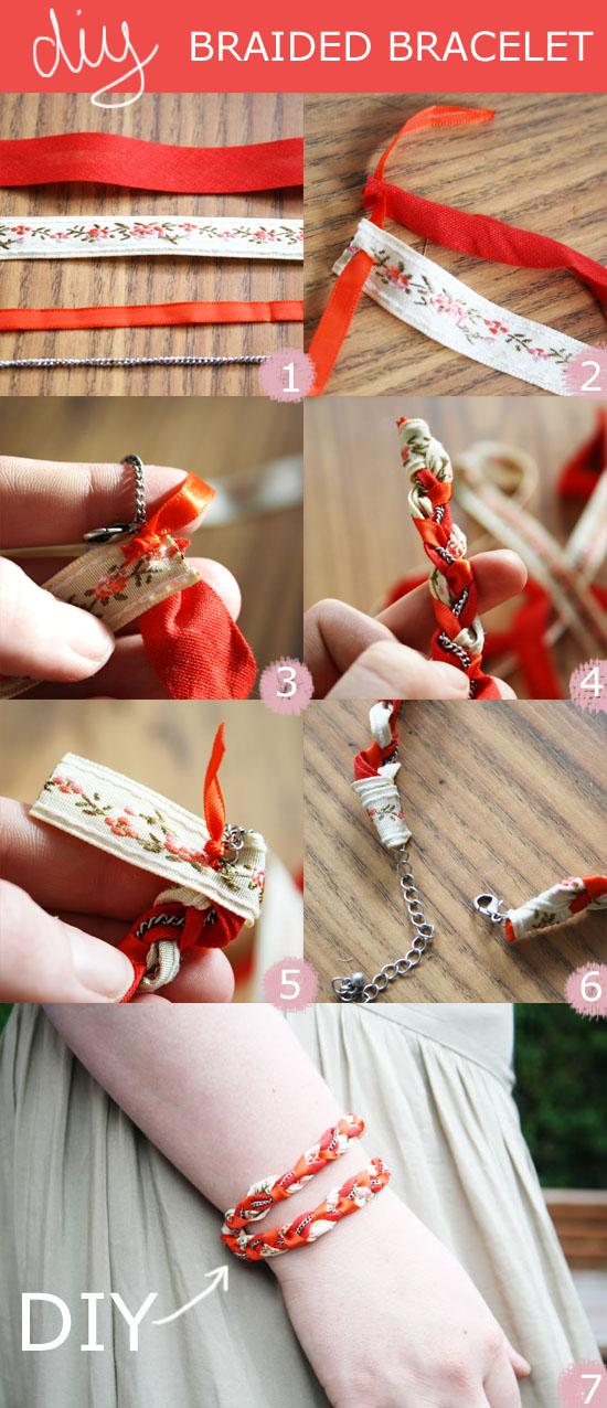 DIY - Easy to make braided bracelet. @ By Wilma