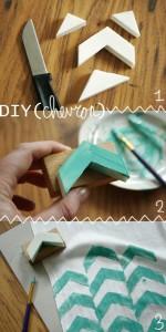 diy - chevron stamped scarf