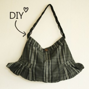 DIY - how to create a bag from a skirt