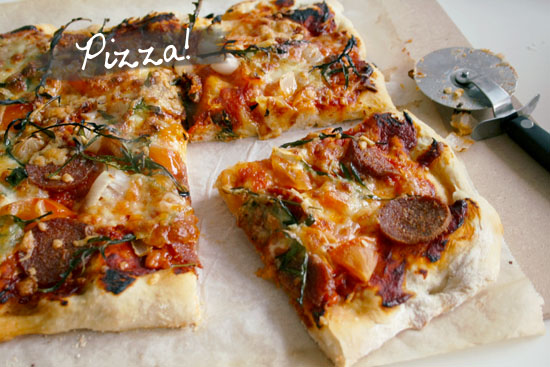 Pizza! With a great pizza dough recipe