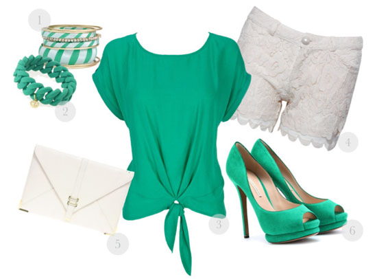 pretty in green fashion 2012