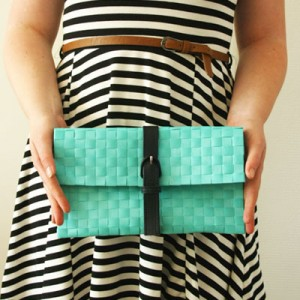 easiest no-sew clutch small