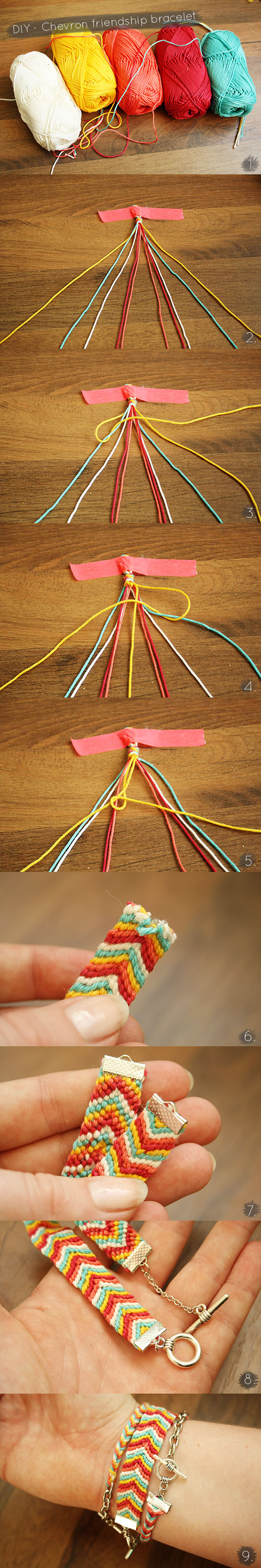 DIY - Chevron friendship bracelet tutorial