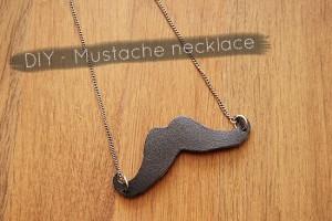 DIY - Leather mustache necklace tutorial