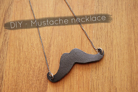 DIY - Leather mustache necklace tutorial