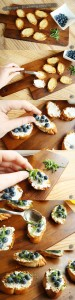 Recipe - Blueberry crostini
