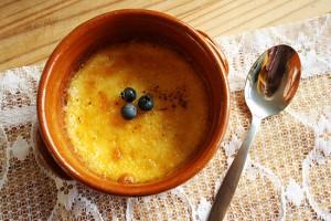 Recipe - Crème brulée with blueberries