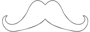 mustache template for leather mustache necklace tutorial