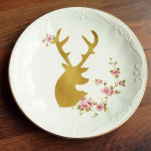 deer plate DIY project small