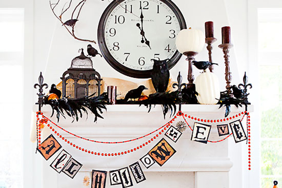 halloween mantel decoration