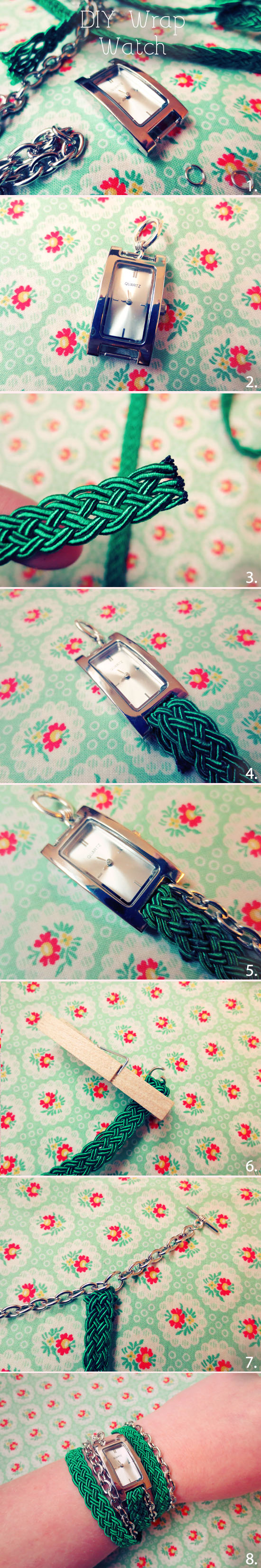 Make your own DIY version of a wrap watch! @By Wilma