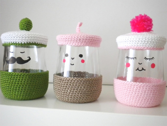 loving this sunday: recycled yoghurt jars
