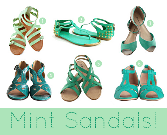 mint sandals fashion