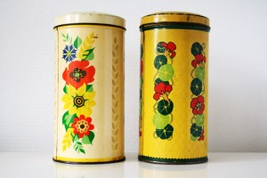 thrif store finds tins