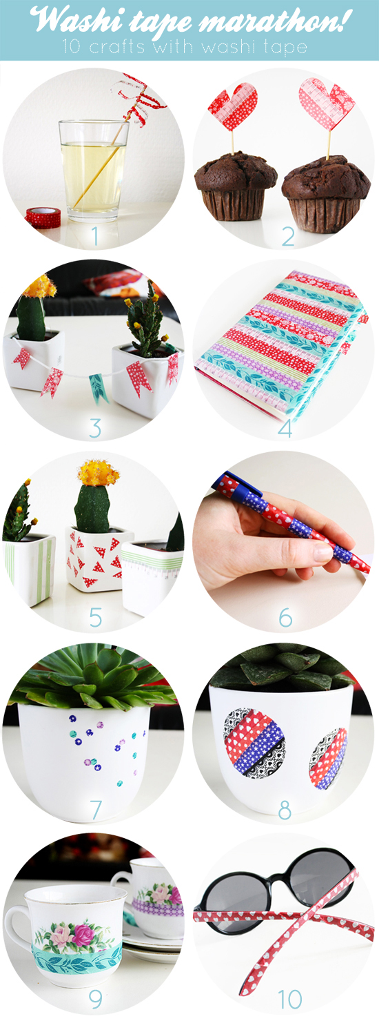 washi tape marathon round-up: 10 washi tape crafts!
