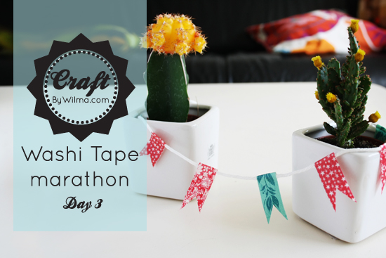Washi tape marathon day 2: DIY mini bunting