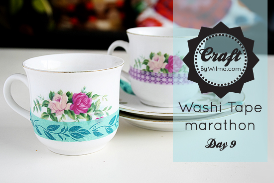 washi tape marathon day 9: tea cups!
