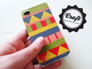 DIY - How to make a colorful paint chip iPhone case