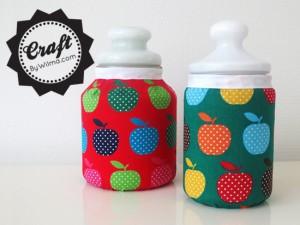 DIY - Fabric covered jars