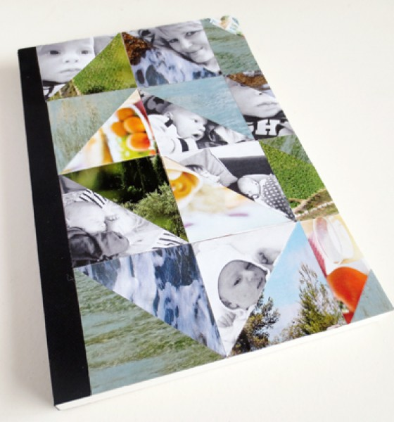 DIY – Triangle cover notebook