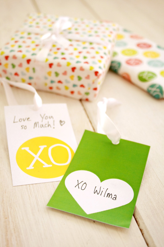 Last minute free Valentines Day wrapping paper printable