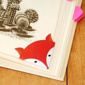 DIY - Printable fox corner bookmark