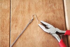 DIY - Long feather earring