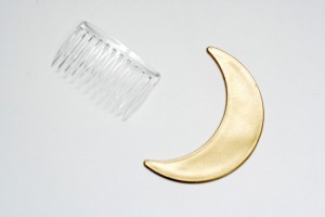 DIY - Crescent moon hair comb
