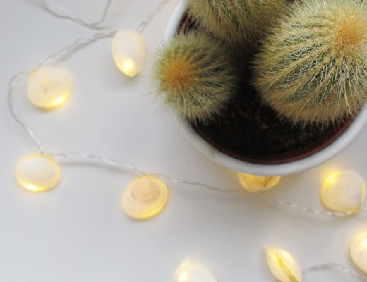 DIY - Seashell string lights
