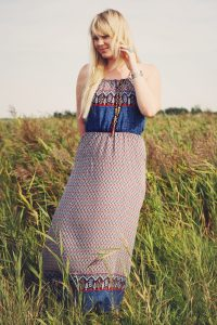 What I wore - A pretty bohemian dress from Zaful