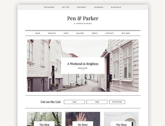 Pen & Parker wordpress theme Etsy