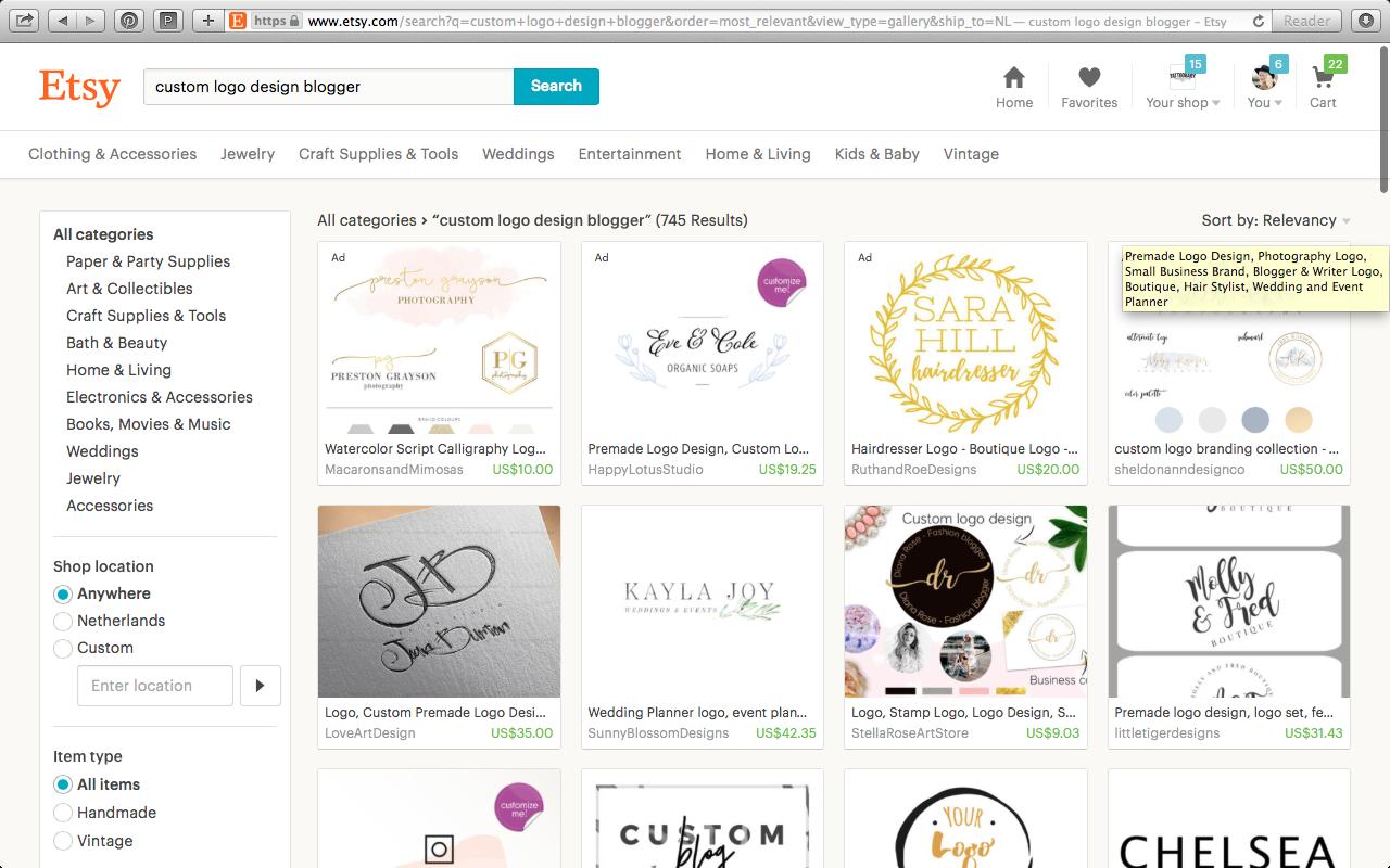 Buying a logo on Etsy